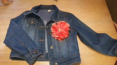 Girls Denim Jacket with detachable Flower age 5-6 from pet & Smoke free home