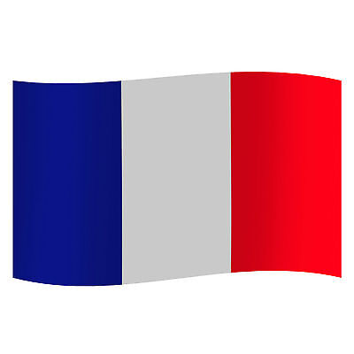 France French National Euro Football Rugby Supporters Tricolour Flag  - 3 x 5 ft