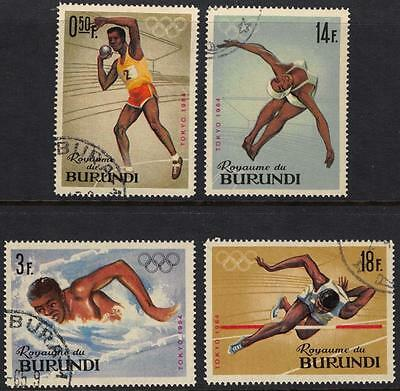 Burundi Africa Stamps 1974 Olympic Games Tokyo Japan Collection of 4 Values VFU