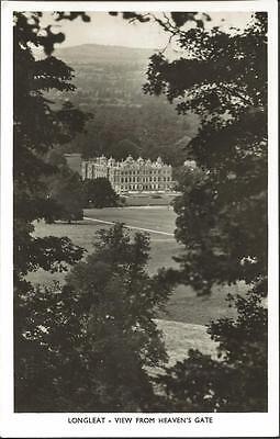 REAL PHOTO Vintage Postcard LONGLEAT Wiltshire View from Heaven's Gate