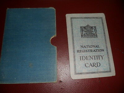 Genuine WW2 Civilian Identity Book and Holder Dated 1943 - Unusual Name?