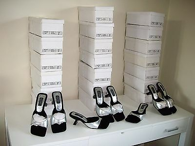 20 Pairs New  Wholesale Womens Branded Schuh Job Lot Boxed Silver Heels Shoes