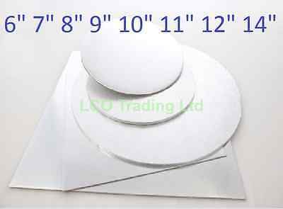 """Double Thick Cake Cards 6"""" 8"""" - 14""""  3mm Cake 5,10 or 25 Round Square CHEAPEST!"""