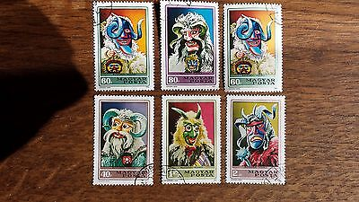 LOT Collection 6 Timbres HONGRIE - EUROPE DIVERS MASQUES
