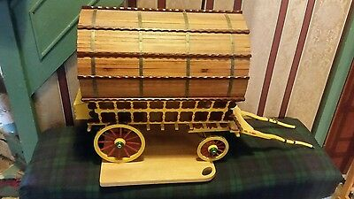 """Scale Model Gypsy Caravan """"Romany Rose"""" Hand Crafted"""