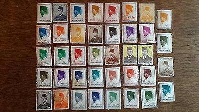 LOT Collection 37 Timbres INDONESIE - ASIE DIVERS ETHNIQUE