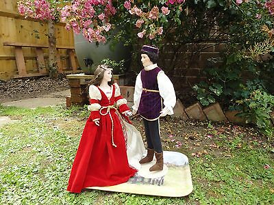 Romeo and Juliet Franklin Mint Heirloom Collection Porcelain Dolls