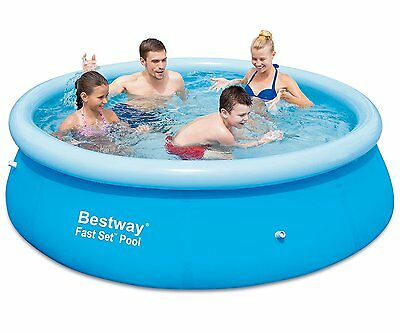 Bestway Fast Set Pool Paddling Pool Family Sized Pool 8Ft + Filter Pump New