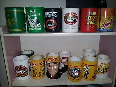 Vintage Stubby/beer Holders - Mixed Lot - Rare/powers/xxxx/willow