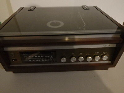 Vintage Sharp Gs-5600 Record Player Am/fm Stereo Radio Vinyl Turntable Glass Top