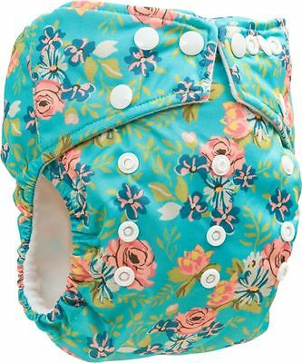 Floral Onesize Nappy With 2 Bamboo Boosters