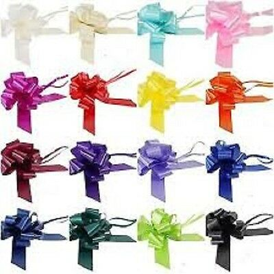 50mm PULL BOWS AND 7M RIBBON WEDDING CAR DECOR GIFTS FLORISTRY 13 COLOURS