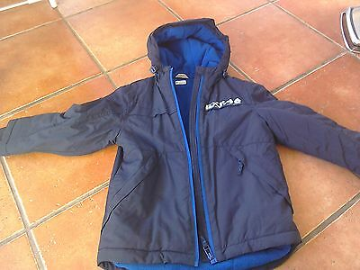 Boys navy coat from George 5-6yrs