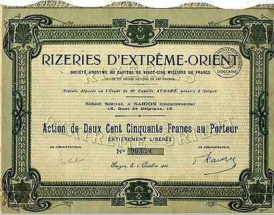 Indochine / Lot : 3 X Rizeries D'extreme - Orient 1918