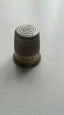 Antique silver nickel  plated thimble