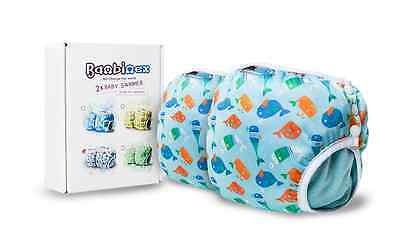 2 x Bambinex Baby Swimmer Reusable Washable Swim Nappy Velour Medium 25-35lbs