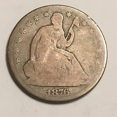 1876 Seated Liberty Half Dollar- 50 Cents