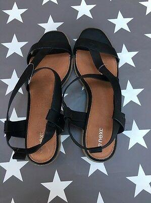 Next Black Sandals Size 8