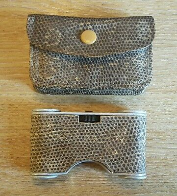 Vintage Opera Glasses In Matching Snakeskin Case By Express