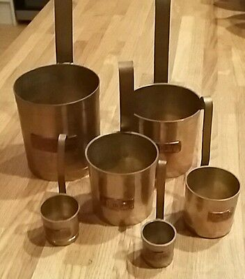 Vintage Brass and Copper Measures