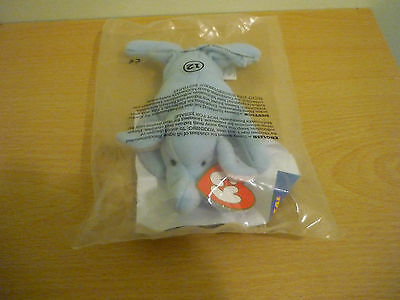 McDonalds Happy Meal Toy Ty Teenie Beanie Peanut the Elephant - sealed in bag