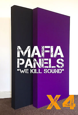 4x Mafia Panels Acoustic Bass Traps- Professional Quality- £140!!