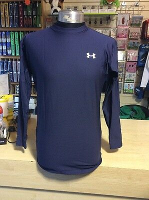 Under Armour Compression Base Layer Navy Blue Low Necked Long Sleeved XL