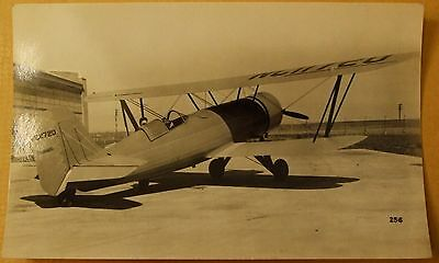 Old aeroplane real photo postcard style picture - Stearman 4E