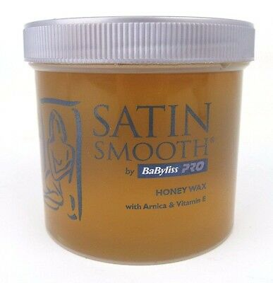 Satin Smooth Honey Wax by Babyliss Pro Arnica and Vitamin E Sensitive Skin 425g