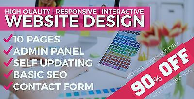 Website Web Design 5 Page - 90% Off! Responsive And Modern Business Web Sites