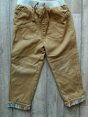 boys 18-24 months chino turn up checked