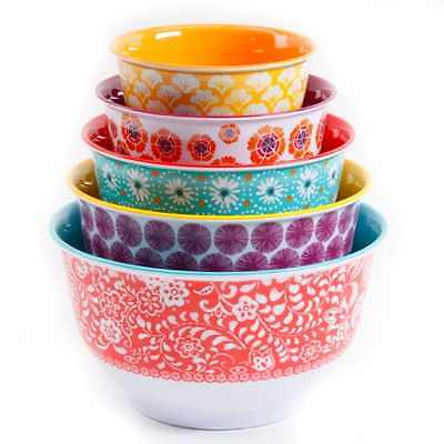 The Pioneer Woman Traveling Vines Nesting Mixing Bowl Set 10 Piece Kitchen