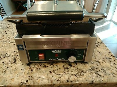 Waring Stainless Steel Commercial Countertop Panini Press Grill Food Truck