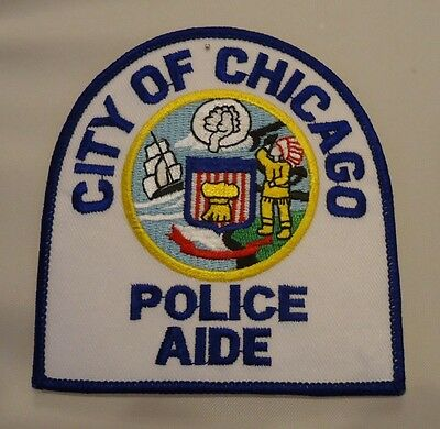 "Chicago Police CPD Shoulder Patch "" Police Aide"""