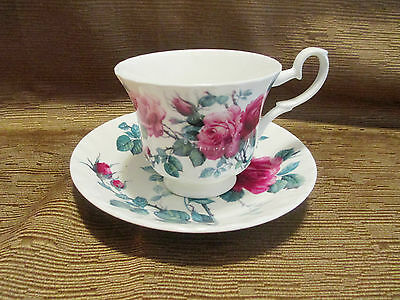Roy Kirkham English Rose Tea Cup and Saucer - Tableware - China