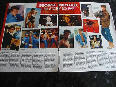 George Michael  - 1980's Magazine Article - The Story So Far & Prince