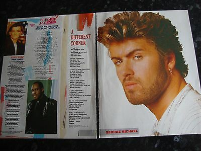George Michael  - A Different Corner Lyrics & Poster Page