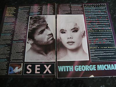 George Michael  - Sex With George Michael, Magazine Article, Cutting, 1980's