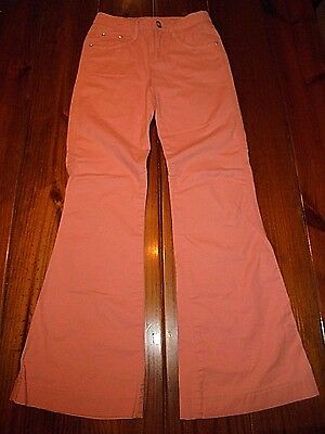 Limited Too size 10 Slim Girls Pink Cotton Flare Pants Read Please!