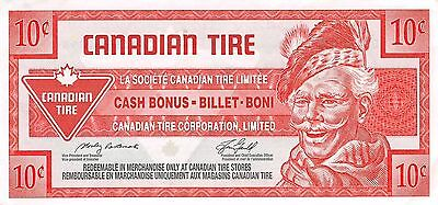 Canada / Canadian Tire Coupon 10 Cents   Circulated Banknote WNS16J
