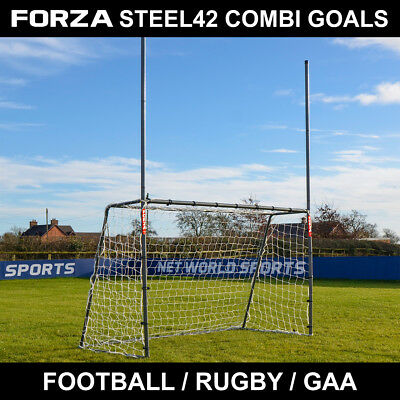 FORZA Steel42 Gaelic Football / Football / Rugby Goal [Choose Your Size]