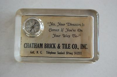 Advertising paperweight-Chatham Tile NC