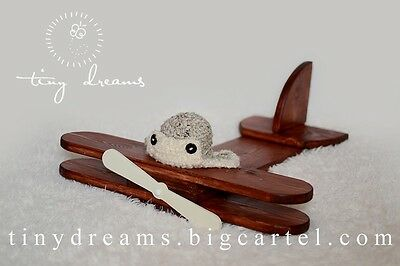 Wooden Plane Newborn Baby Toddler Photo Prop other colours available