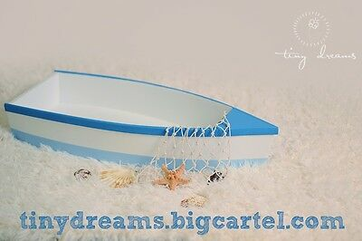 Wooden boat Newborn Baby Toddler Photo Prop other colours available