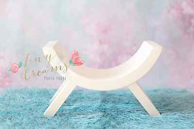 Curved Arched wooden Stool / Bench SOLID WOOD NOT MDF Newborn Baby photo prop