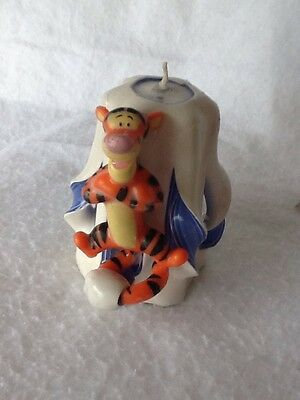 Vintage NOS Winnie the Pooh Candle Tigger Fancy Carved Candle from Disneyland!