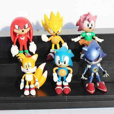 """Sonic the Hedgehog Figures Toy Amy Tails Mephiles Knuckles 6cm/2.4"""" PVC Figure"""