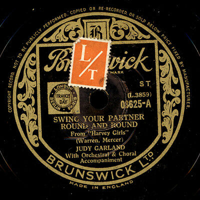 JUDY GARLAND Swing your Partner round and round / KENNY BAKER Wait and see S2478