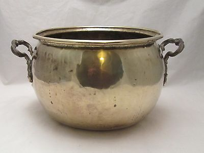 A Large 19th Century Brass Planter / Plant Pot with Handles
