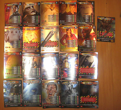RARE SHINY Doctor Who Trading Card Game lot bundle R rec del Battles in time d